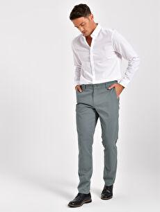 Slim Fit Gabardin Chino Pantolon