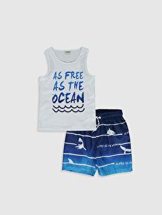 Erkek Çocuk Baskılı Yüzme Takım