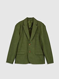Yeşil Erkek Çocuk Blazer Ceket