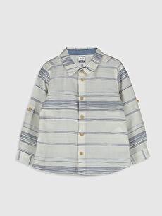 Erkek Bebek Çizgili Pamuklu Gömlek