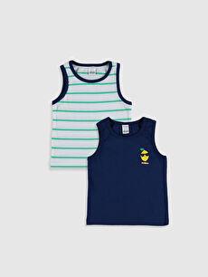 Erkek Bebek Pamuklu Atlet 2'Li