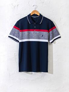 Polo Yaka Renk Bloklu Tişört