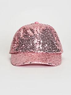 Kız Çocuk Payetli Şapka