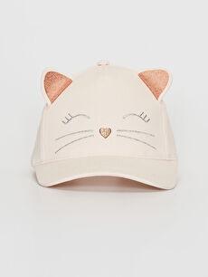 Kız Çocuk Nakış Detaylı Ter Bantlı Şapka