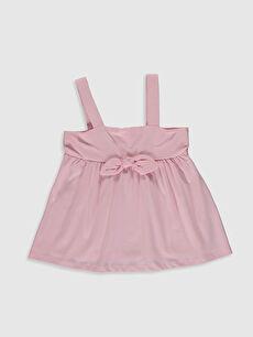 Kız Çocuk Fiyonk Detaylı Pamuklu Bluz