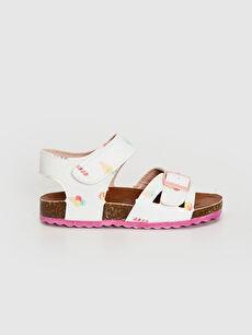 Kız Bebek Toka Detaylı Cırt Cırtlı Sandalet