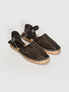 Women's Genuine Leather Espadrilles