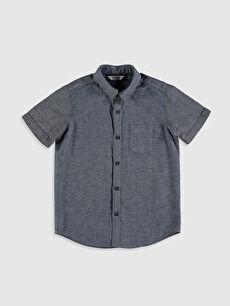 İndigo Erkek Çocuk Pamuklu Gömlek