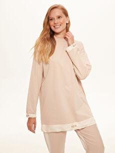Büzgü Detaylı Oversize Sweatshirt