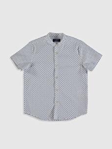 Erkek Çocuk Baskılı Pamuklu Gömlek