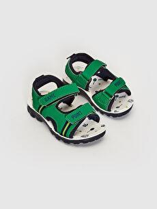 Yeşil Erkek Çocuk Cırt Cırtlı Sandalet