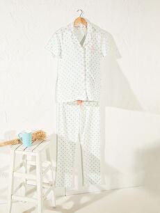 Puantiyeli Pamuklu Hamile Pijama Takımı