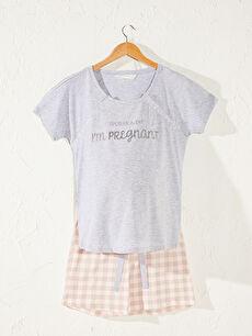 Fonksiyonel Şortlu Hamile Pijama Takımı