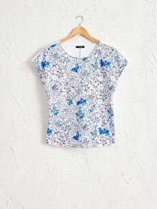 Desenli Pamuklu Tişört