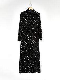 Puantiyeli Viskon Elbise
