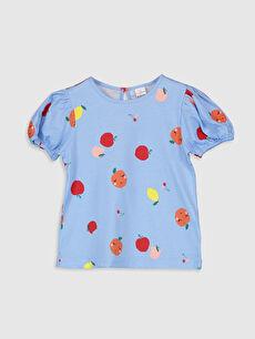 Kız Bebek Baskılı Pamuklu Tişört
