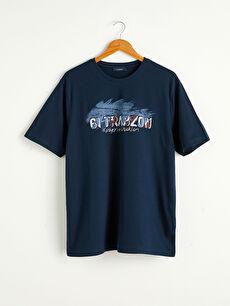 Bisiklet Yaka Trabzon Baskılı Penye Tişört