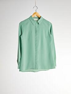 Sateen Düz Klasik Gömlek