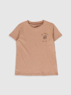 Kız Çocuk Bitkisel Boyalı Organik Kumaştan Tişört