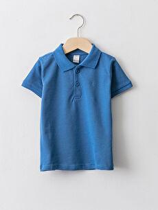Polokragen Kurzärmeliges Basic Baby Jungen T-Shirt
