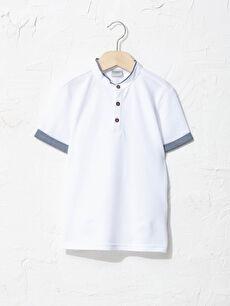 Hakim Yaka Basic Kısa Kollu Erkek Çocuk Tişört