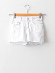 Basic Gabardine Girls Shorts