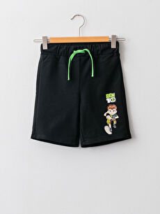 Ben 10 Printed Boy Shorts With Elastic Waist
