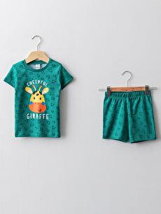 зелен Комплект пижама