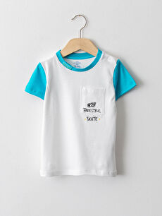 Crew Neck Short Sleeve Printed Baby Boy T-Shirt