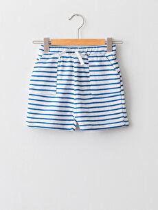 Elastic Waist Striped Baby Boy Shorts