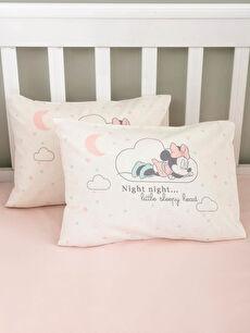 Minnie Mouse Lisanslı Kız Bebek Dokuma Yastık Kılıfı