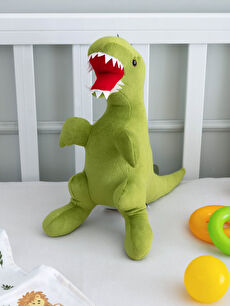 Pelüş Dolgulu Nakışlı Bebek Dinozor Kırlent