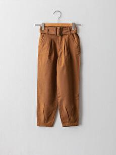 Beli Lastikli Basic Kız Çocuk Pantolon