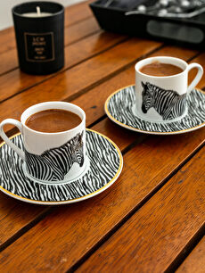 Zebra Desenli Kahve Fincanı