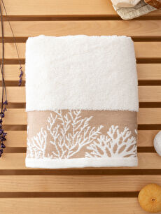 Embroidered Jacquard Face Towel 50x80 Cm