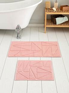 Çizgi Detaylı Banyo Paspası 2'li