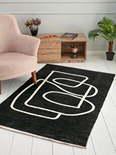 Double Sided Patterned Fringed Jacquard Carpet 120x180 Cm