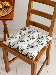 Printed Lace-Up Chair Cushion 40x40 Cm
