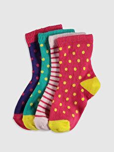Kız Bebek Soket Çorap 4'Lü