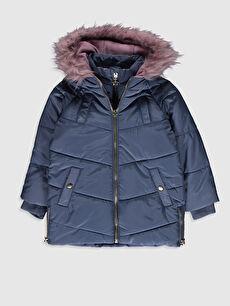 Girl Feather Hooded Coat