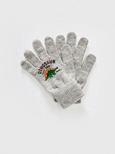 Boy's Embroidery Knitwear Gloves