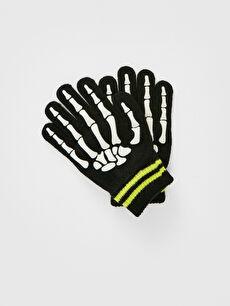 Boy's Skull Printed Gloves