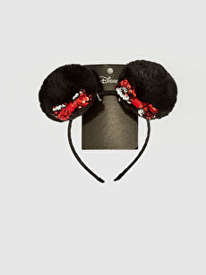 Girl Minnie Mouse Pompom Detailed Crown