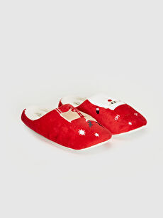 червен Домашни чехли