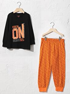 Erkek Çocuk Baskılı Pijama Takımı