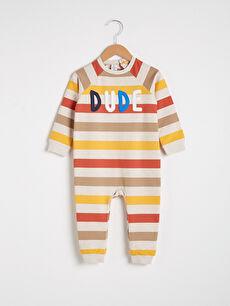 Erkek Bebek Çizgili Tulum