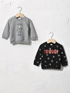Erkek Bebek Sweatshirt 2'li