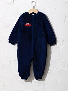 Erkek Bebek Tulum (0-12 Ay Arasi Patikli)