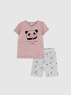 LCW GREEN Kız Çocuk Organik Pamuklu Pijama Takımı