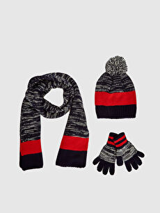 Boy's Tricot Beret, Gloves and Scarves